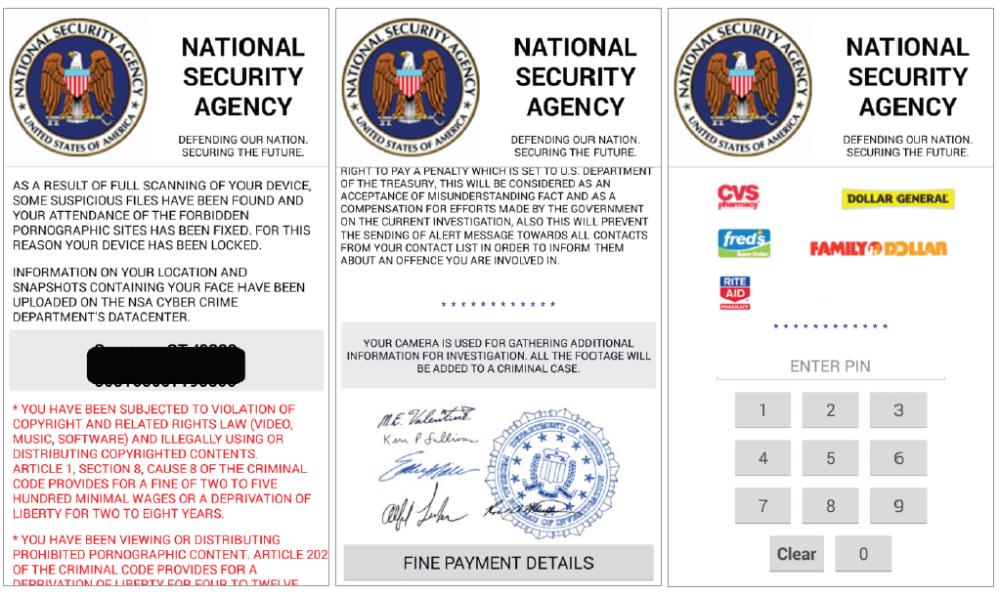 Eine neue Variante von Simplocker gibt sich als NSA aus | Bild: ESET