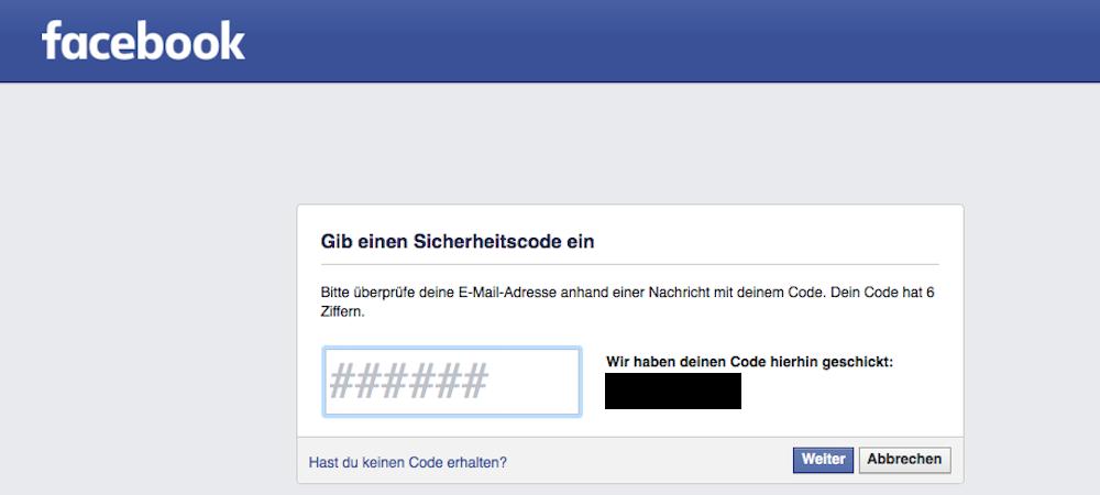 Facebook Konto Hacken