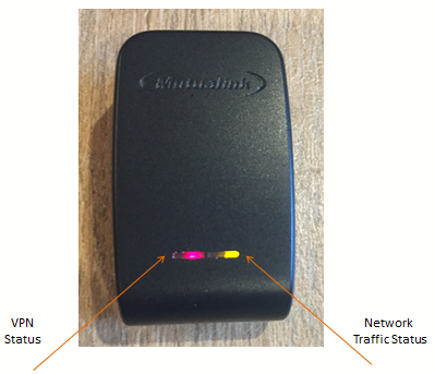 LED-Leuchtanzeigen geben den Benutzern schnelles Feedback über VPN-Status und Netzwerkauslastung.