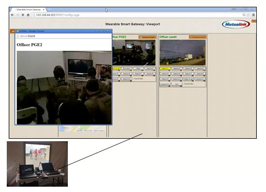 Die Kommandozentralen-Benutzeroberfläche des WSG ist browser-basiert und modular aufgebaut.