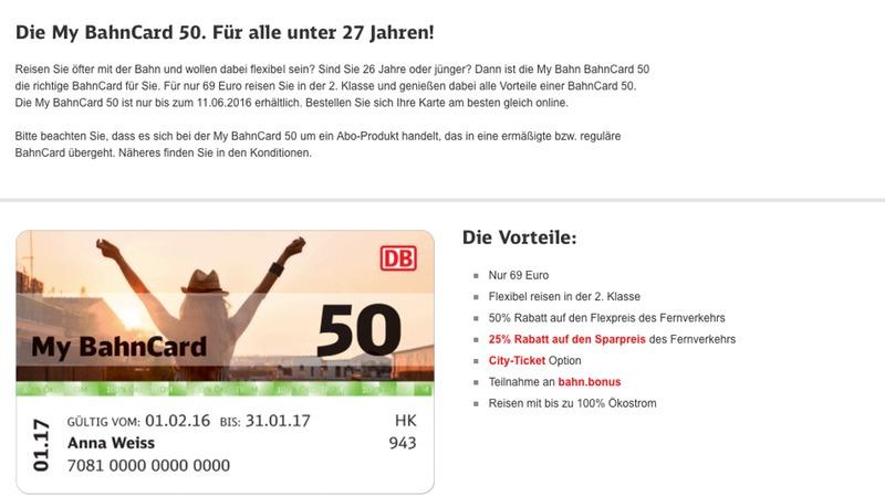 My BahnCard 50