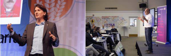 Hochkarätiges Speaker Line-up beim SU Germany Summit mit u.a. dem Associate Founder & CEO SU Rob Nail (links) und Global Ambassador & Founding Executive Director SU Salim Ismail (rechts)