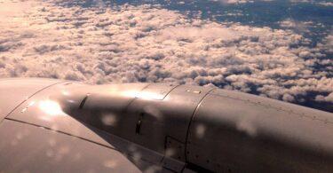 Flugzeug, reisen, fliegen, CO2, Emissionen
