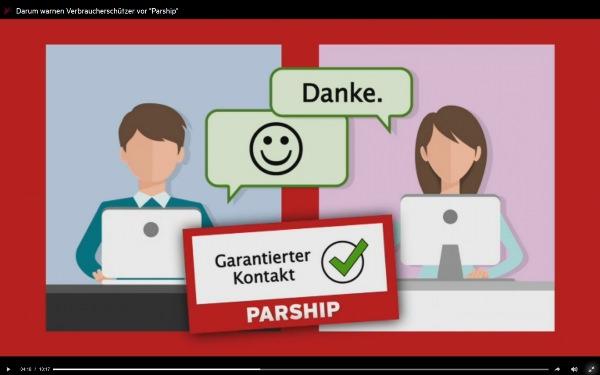 Garantierte Kontakte kommen bei Parship schnell zustande (Bild: Videoscreenshot)