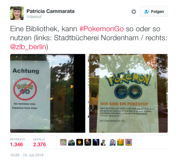 Pokemon Go Bibliothek