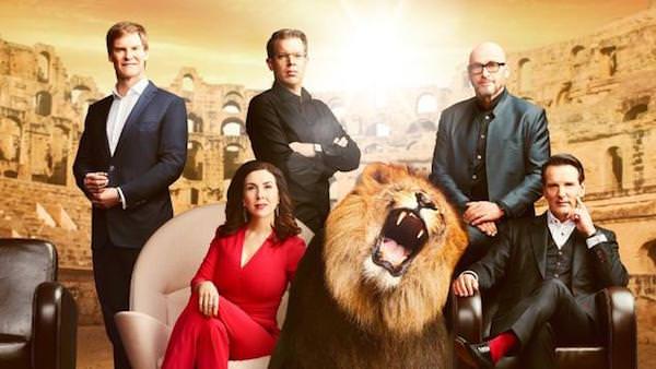 Maschmeyer, Williams, Thelen, Schweizer, Dümmel (v.l.): Die Löwen (Bild: VOX)