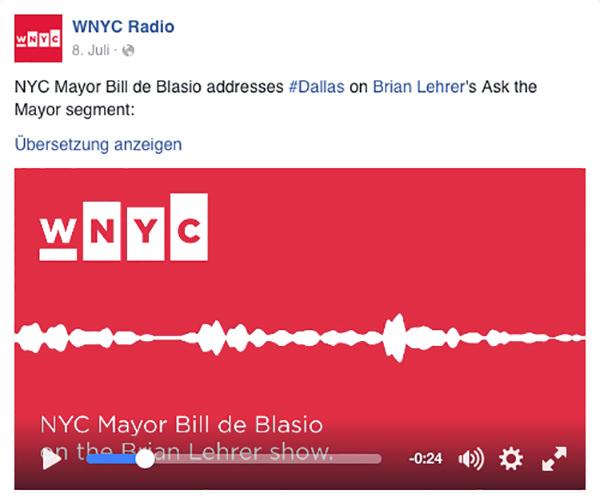 WNYC Audiogram