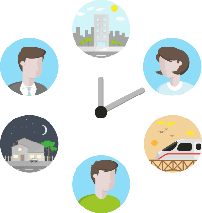 Egal mit welchem Device, Zuhause, unterwegs oder im Büro. Nehmen Sie Ihre Arbeit dort auf, wo Sie sie beendet haben. Nahtlose Übergänge sind ein Merkmal der Smart2Biz-Apps.