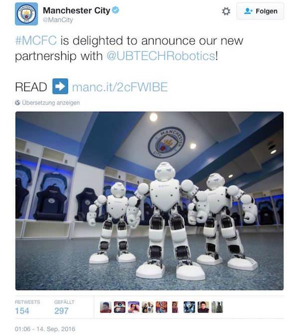 ManCity Ubtech Robotics