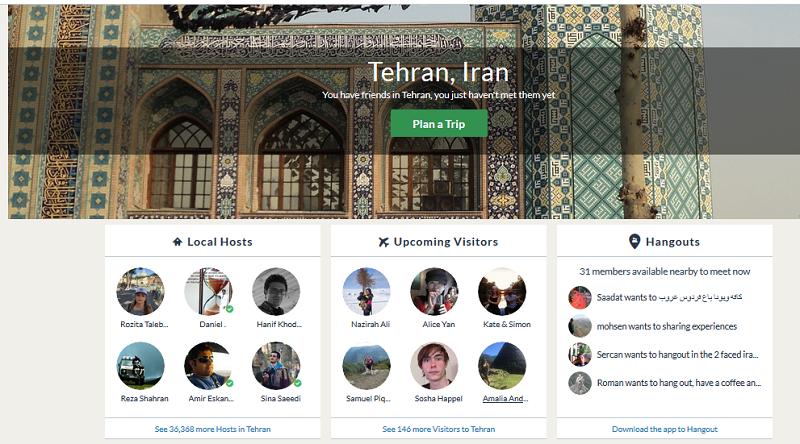 Couchsurfer Teheran
