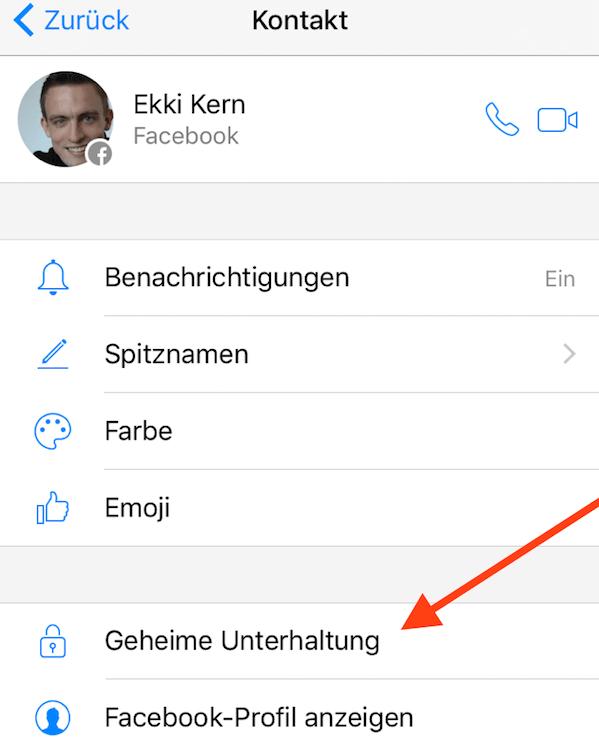 Facebook Messenger geheime Unterhaltung