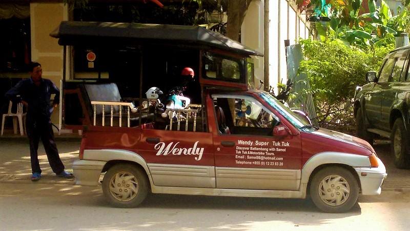 Auto Tuk Tuk in Kambodscha
