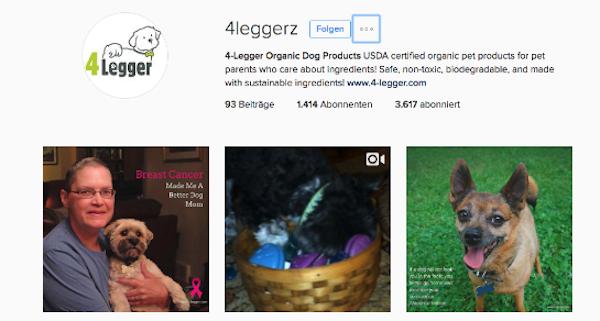 Der Instagram-Kanal @4leggerz ist offenbar aus @dogownersonly und dessen Instagress-Aktivitäten entstanden.