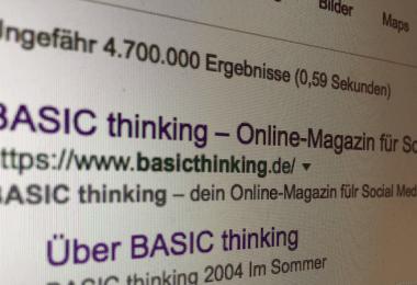 Google Linkfreiheit BASIC thinking LSR Leistungsschutzrecht