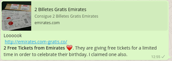 whatsapp emirates