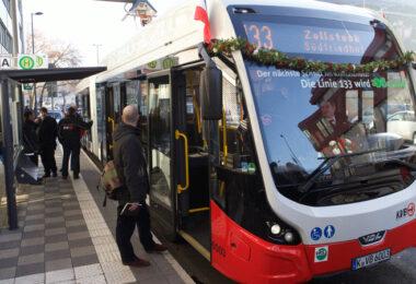 Einer der neuen E-Busse. Bild: Jörg Heupel