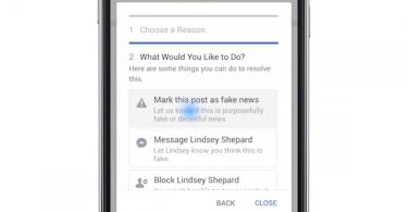 Facebook Fakenews Hinweis