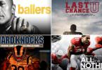 Football NFL Serien Ballers Last Chance U Hard Knocks All or Nothing
