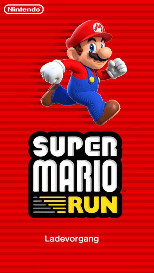 Super Mario Run Startbildschirm