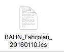 ICS-Datei Onlineticket Deutsche Bahn