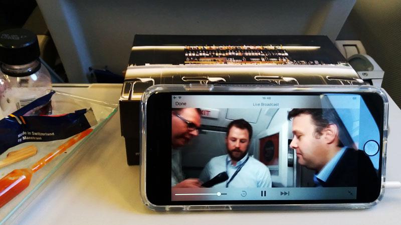 Live-Stream im Lufthansa-Flugzeug