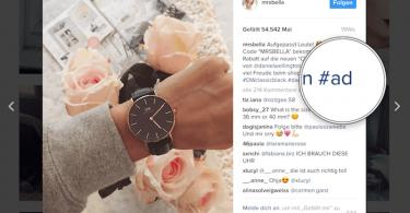 Influencer Werbung Instagram MRS BELLA