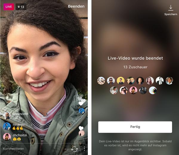 Instagram, Livestream, Livestreaming
