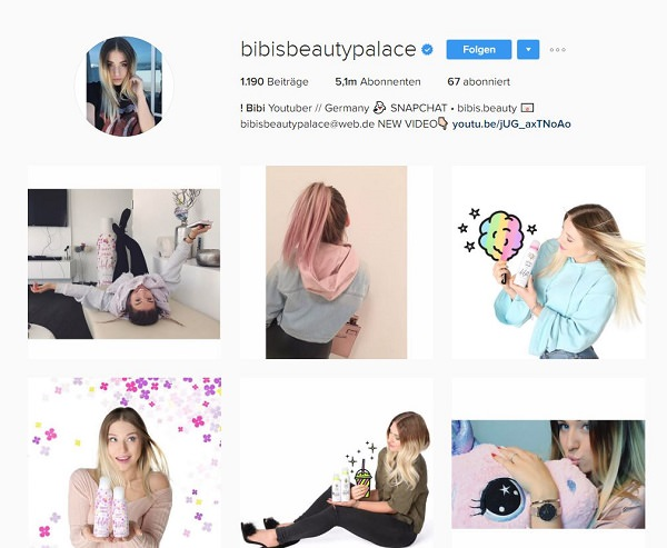 Instagram. Influencer, Social Media, Bibisbeautypalace