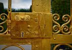 Schloss, Tor, Gold, Garten