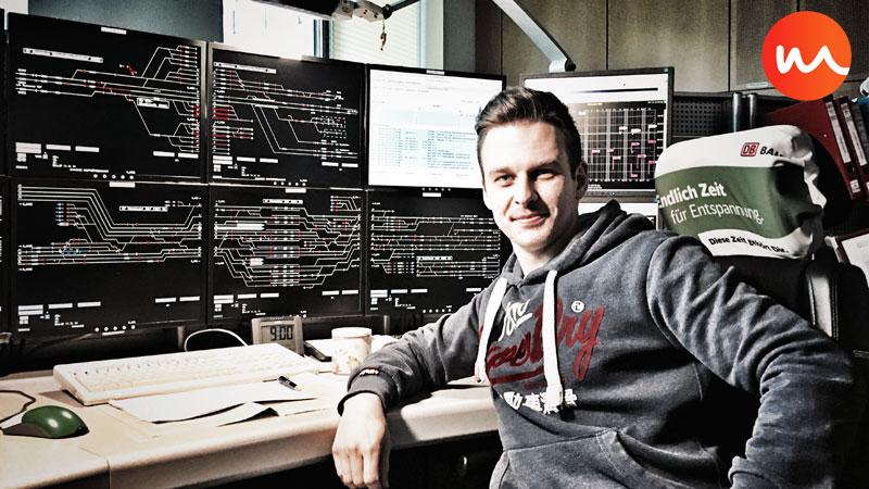 Tim Grams im Stellwerk (Bild: privat)