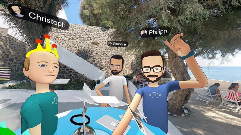 Facebook, Facebook Spaces, VR, Virtual Reality