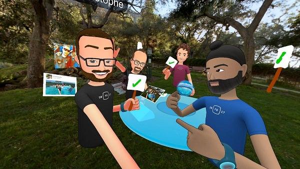 Facebook, Facebook Spaces, VR, Virtual Reality