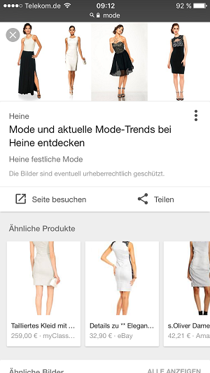 Google, Ähnliche Produkte, Similar Items, SEA, SEO