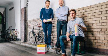 Mymuesli Gründer Jubiläum 10 Jahre Max Wittrock, Hubertus Bessau, Philipp Kraiss