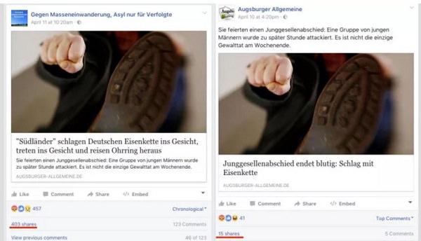 manipulieren, Facebook