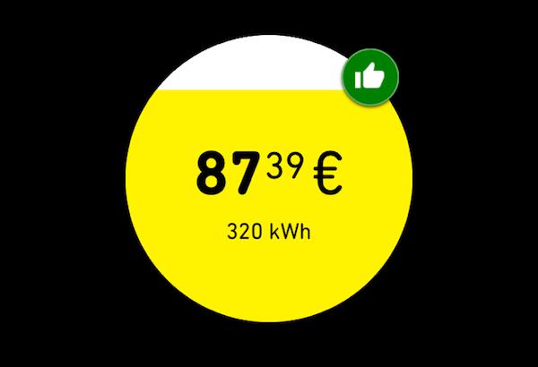 kWhapp Yello Strom grüner Daumen