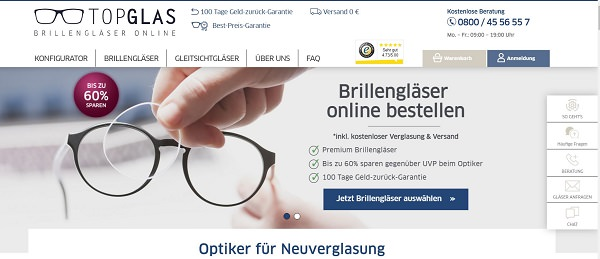 Topglas, Online-Shop, Start-up