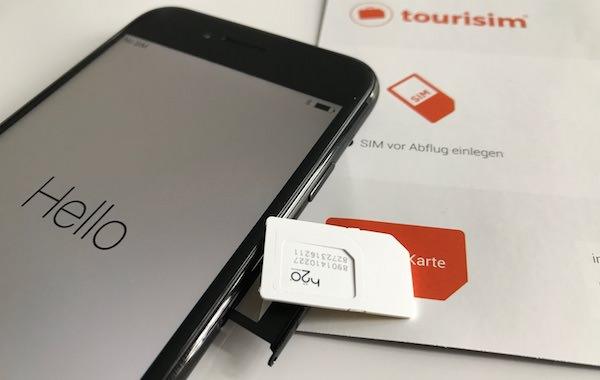 Tourisim SIM Karte einlegen USA