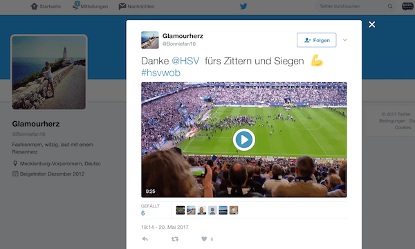 Twitter Video DFL Rechte 2
