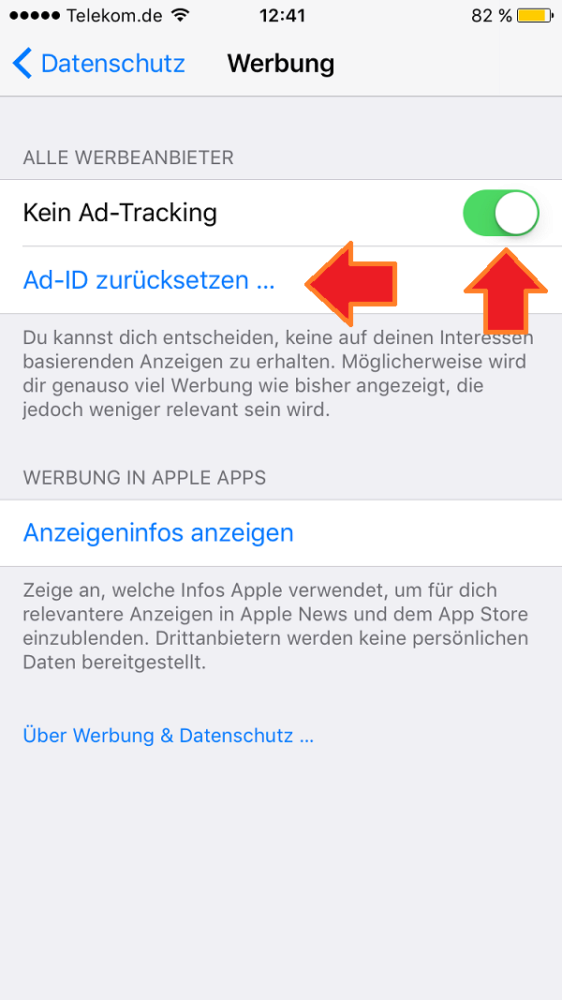 Apple. Ad Tracking