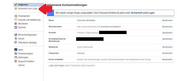 Facebook-Konto, Sicherheit, Security
