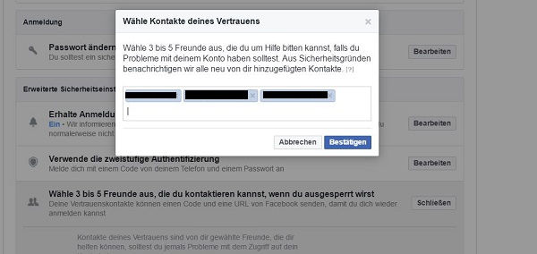 Facebook-Konto, Sicherheit, Security