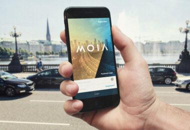 Die Vision von Moia: Per App das Shuttle rufen (Bild: Moia)