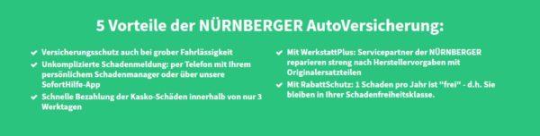 5 Vorteile bei der Autoversicherung der NÜRNBERGER