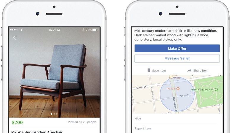 Facebook Marketplace, Facebook Marktplatz