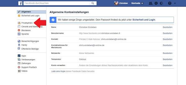 Facebook, Facebook-Einstellungen, Facebook-Beiträge, Sichtbarkeit