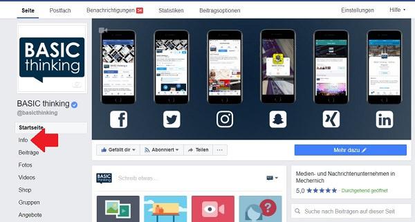 Facebook URL, Facebook, Einstellungen