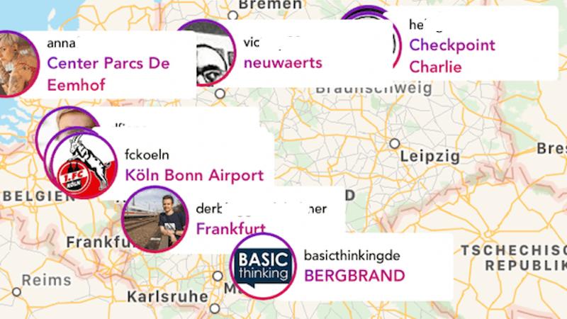 Maps Instagram Snapchat InstaMap Snap Maps