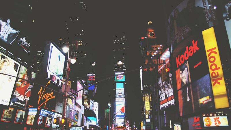 Times Square, Werbung, Anzeigen, Viewability, Sichtbarkeit