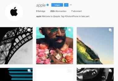 Apple, Instagram, Instagram-Account